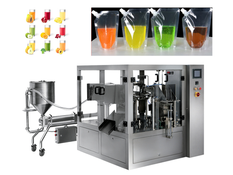Stand Up Pouch Packing Machines With Spout For Liquids/Suction Nozzle Filling And Capping Machine
